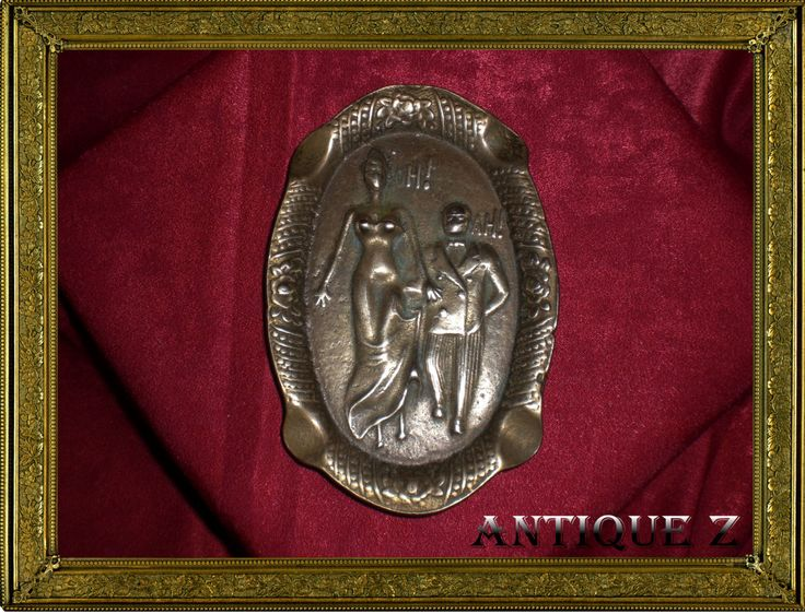 Rare!!! Genuine Art Nouveau bronze ashtray, naughty art, antique by AntiqueBoutiqueZ on Etsy