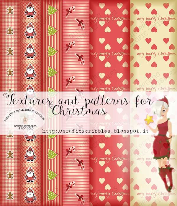Textures and Patterns for Christmas http://graficscribbles.blogspot.it/2015/11/textures-patterns-christmas-carta-Natale.html #texture   #pattern   #christmas