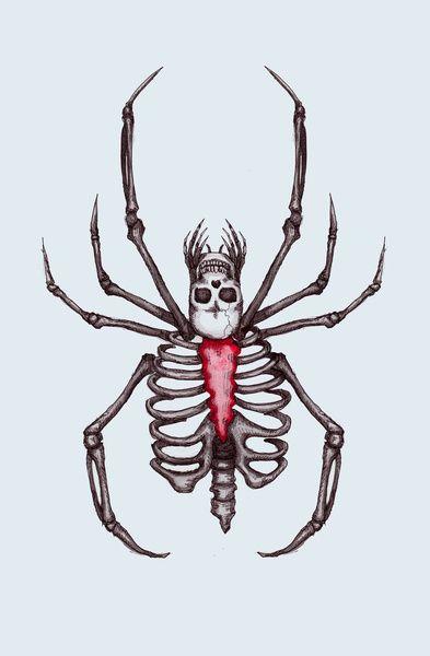 Black Widow Spider Skeleton by Ludwig Van Bacon
