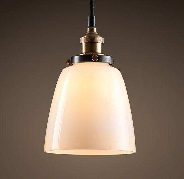 RH C Factory Filament Milk Glass Cloche PendantEvoking Industrial Lighting Our Reproductions Of Vintage Fixtures Retain The Classic Lines And Exposed
