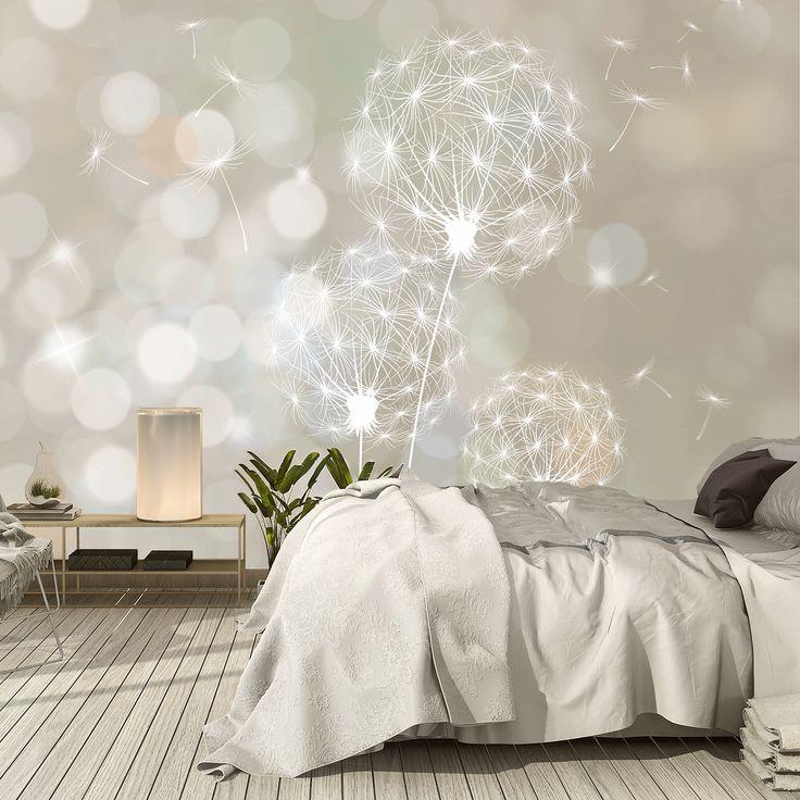 livingdecoration Carta Parati Fiori Soffione 3D 366cm x