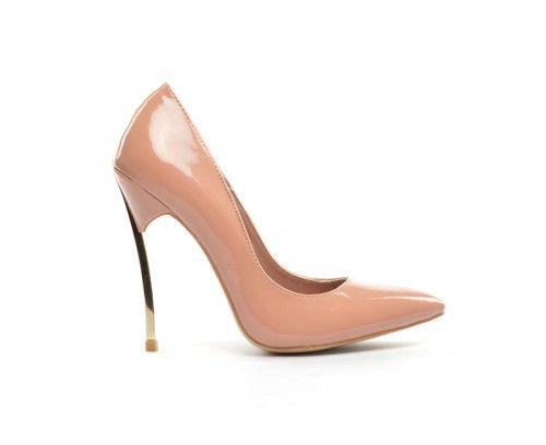 Pantofi Adinia Nude -  Piele eco lacuita  Colectia Incaltaminte de la  www.cadoupentruea.ro