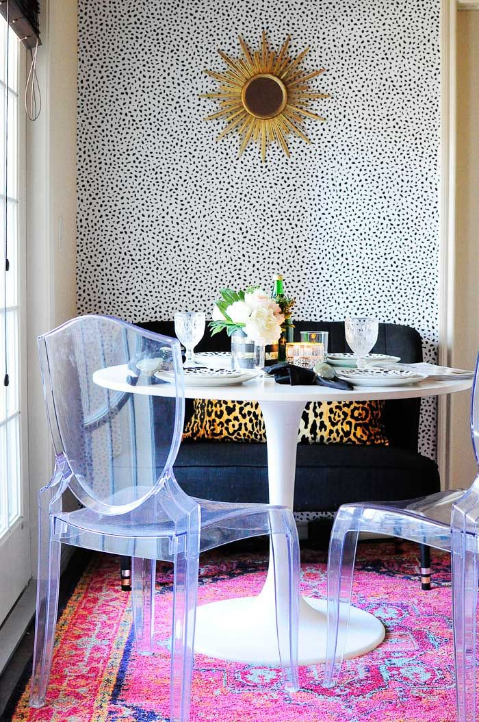 Dining room decor tips for renters and small space dwellers.