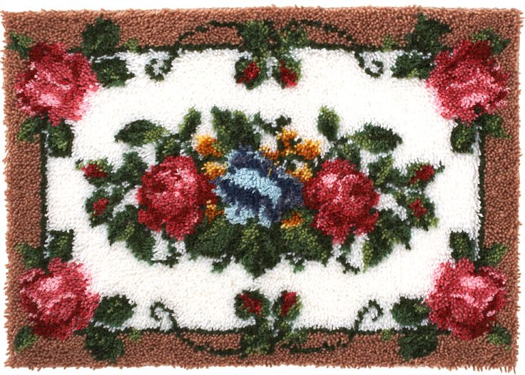 Elegant Roses Latch Hook Rug Kit | Sewandso