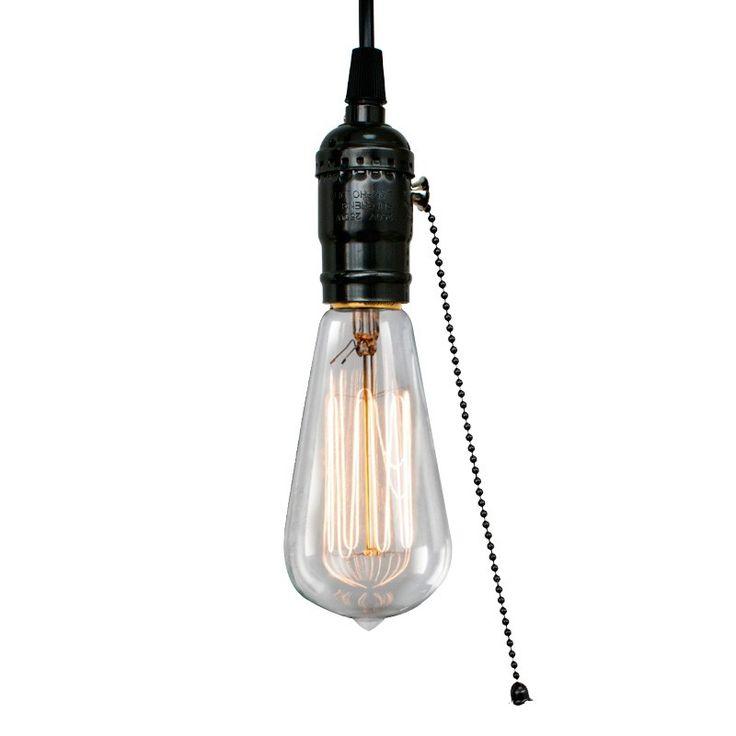 Esta novedosa lámpara colgante le dará a tu espacio originalidad, su ampolleta incandescente en forma de tubo, no pasará desapercibida en tu casa.Medidas:Ampolleta: La 6 cm  Al 14,5 cm An 6 cmLámpara: La 6 cm  Al 21 cmCable: La 2 mt