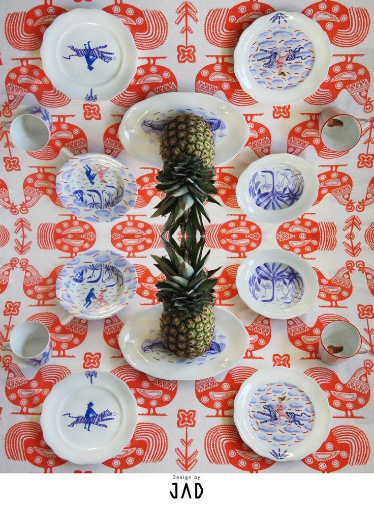 design by JAD   hand painted porcelain https://www.facebook.com/jad.dishes