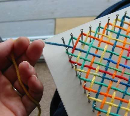How cool is this DIY nail loom??