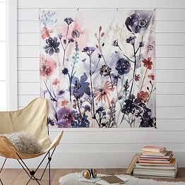 watercolor floral tapestry from PBTeen