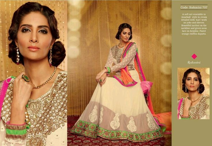 LATEST HIT Designer embroidery semi stitched Georgette Salwar Kameez - AMY