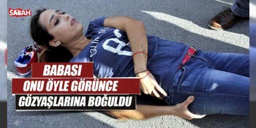 Kızı kaza geçiren baba gözyaşlarına boğuldu: Antalyada bir otomobilin çarptığı kızı 24 yaşındaki Ülkü Yıldızlıyı yerde acı içinde gören Erol Yıldızlı gözyaşlarına hakim olamadı.