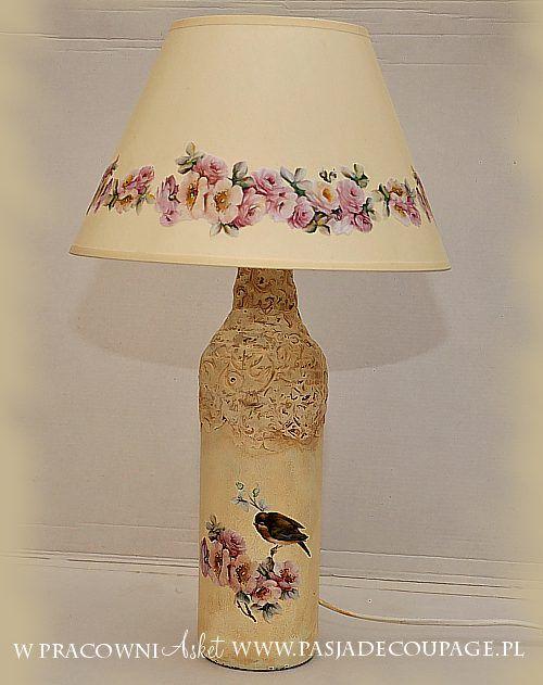 decoupage lampa