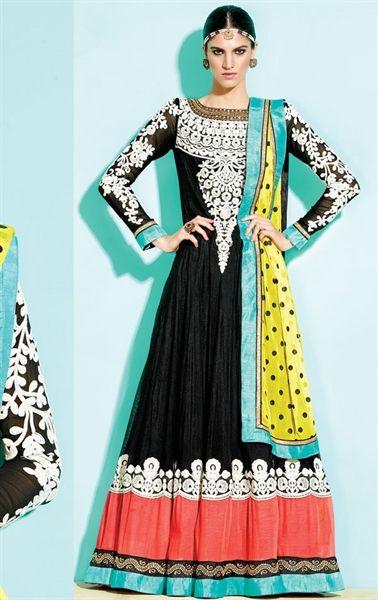 Picture of Awesome Black Designer Anarkali Salwar Suit