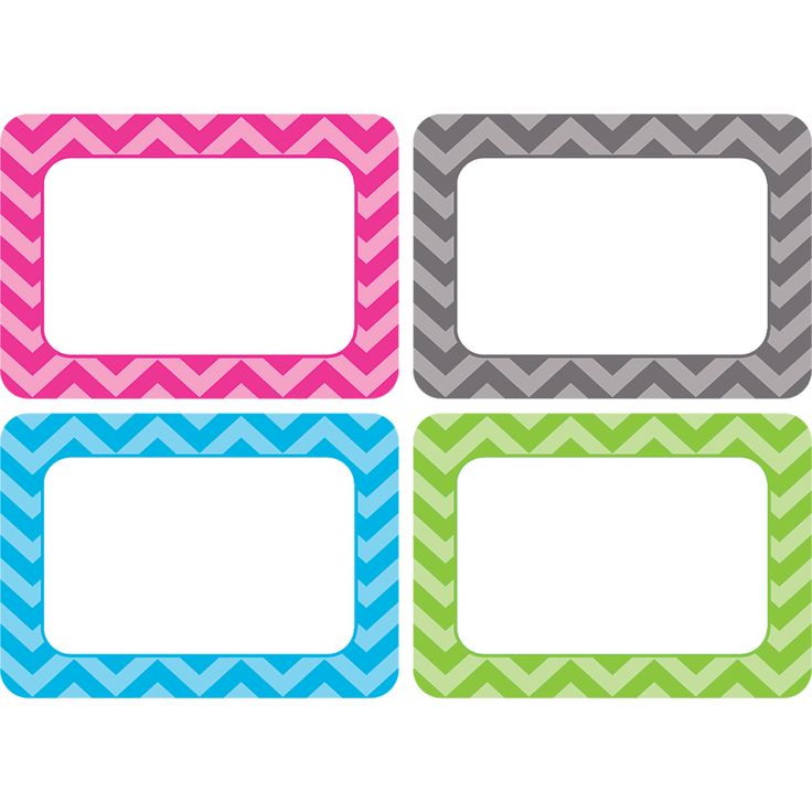 Chevron Name Tags/Labels - Multi-Pack Image
