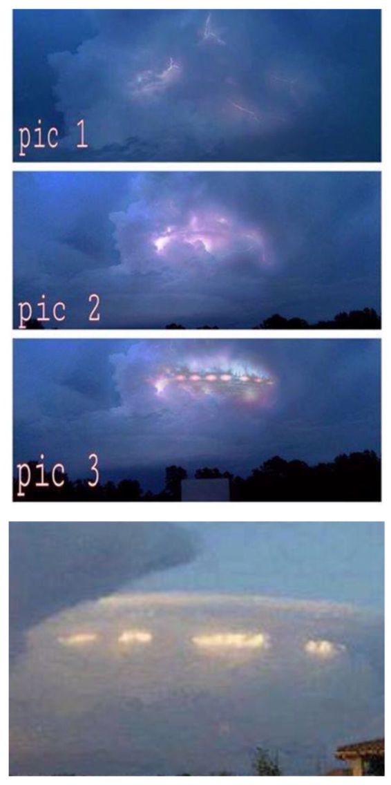 UFO sighting in Florida, Feb 2015. The photographer was just shooting the ventricular cloud formations when the ship revealed itself unexpectedly.