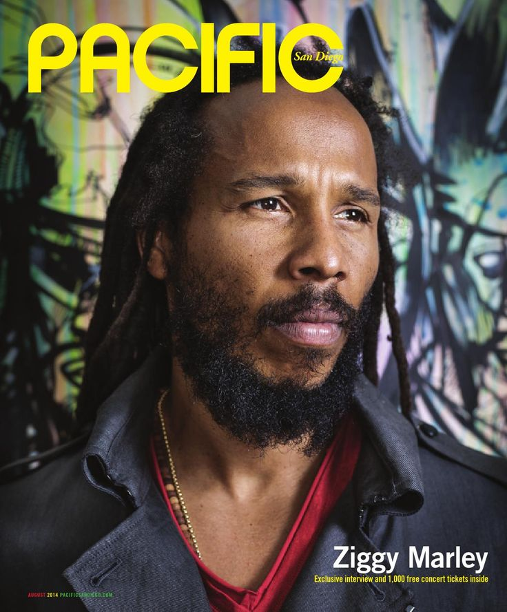 Pacific San Diego Magazine - August 2014  Exclusive interview with Ziggy Marley plus 1,000 free concert tickets; biggest bands and artists coming to San Diego this year; summer body pilates; mens fashion; restaurateur on the rise and more.