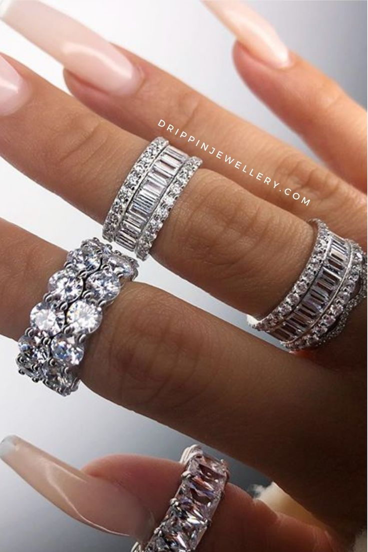Emerald Cut Eternity Band, Eternity Bands, Anklet Bracelet, Anklets, Bracelets, Aesthetic Rings, Chunky Rings, Band Rings, Diamond Rings