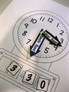 Making a clock and other telling time activities