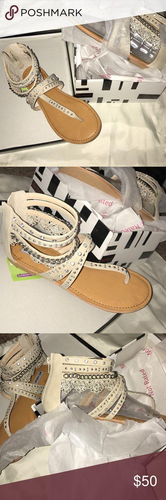 White Boutique Sandals Size 8 White Boutique Sandals Size 8 Not Rated Shoes Sandals