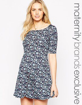New Look Maternity Paisley Swing Dress