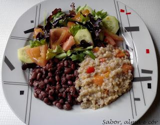 Sabor, Alma e Cor: Estufado de trigo sarraceno com cenouras e pimento...