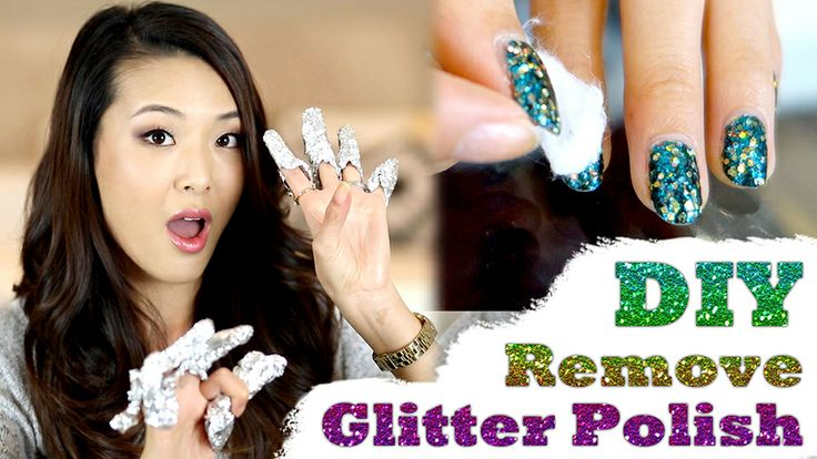 This handy! How to remove glitter nail polish easily in 5 mins. #beauty #manicure #kuyam