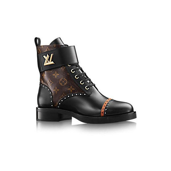 22644784f1e Designer Leather Boots for WOMEN - LOUIS VUITTON ® ❤ liked on Polyvore  featuring shoes