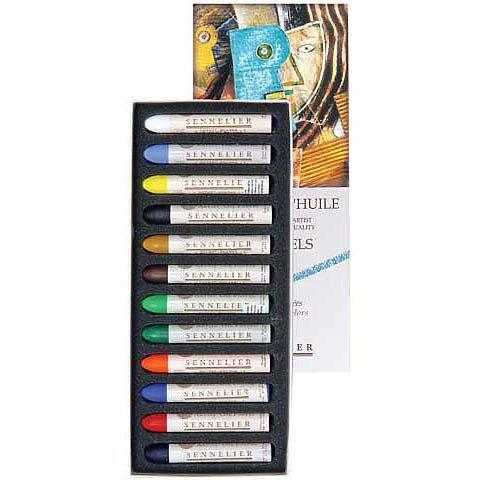 Sennelier Oil Pastel Set - 12 Colors