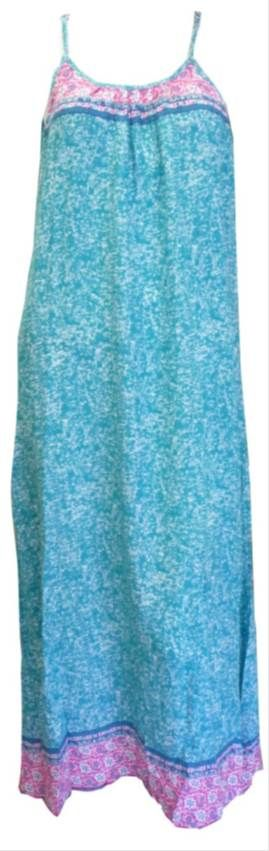Teal and Pink Maxi Dress www.resortwear.co.nz