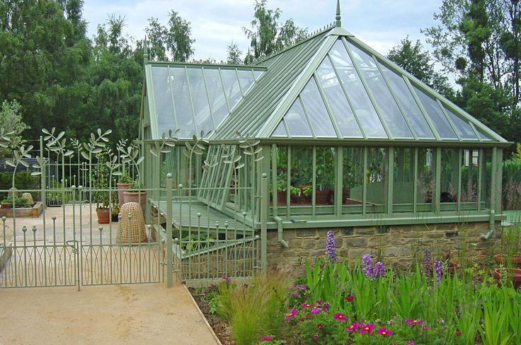 Greenhouse With Yorkstone Base Gardening Pinterest