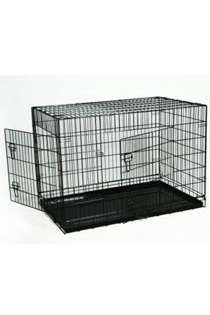 36″ Black Folding Wire Cage w/Divider This BestPet 3-Door Dog Crate is designed for ultimate versatility in any situation. BestPet is recognized for offering quality pet suppliers in low prices, All BestPet folding crate comes with long lasting metal pan, not cheap plastic pan which in general only last 6 month. http://house4pets.com/product/36-black-folding-wire-cage-wdivider/