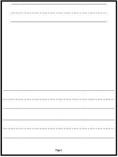 Free Printable Kindergarten Journal Paper