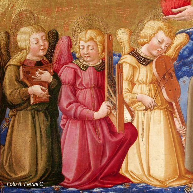 Neri di Bicci - Incoronazione della Vergine (Verna), dettaglio - 1472-1475 - Museo della Verna (detta sala pinacoteca), Arezzo