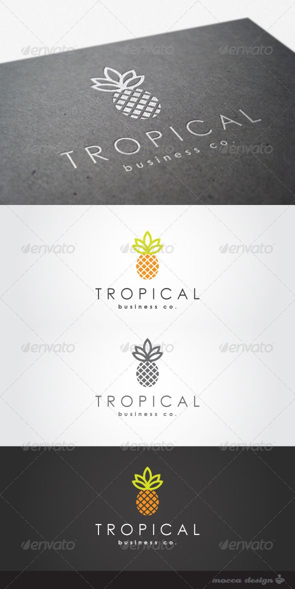 Tropical Logo #GraphicRiver Tropical is a clean, professional and elegant logo suitable for media business, graphic design studios, natural products, juice brand or any other business related. Features