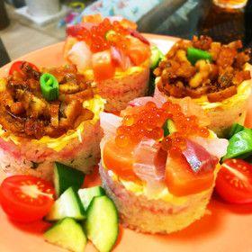 ひな祭りに海鮮ちらし&穴子寿司