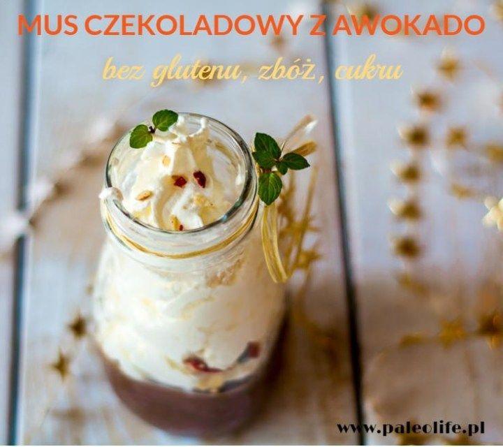Mus z awokado, czekoladowy (paleo, bez glutenu i cukru) - paleolife