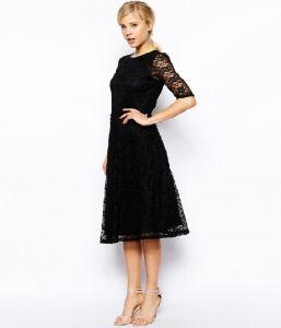 black dresses past the knee