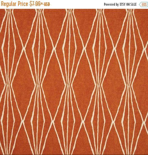 Handgeschliffenes Shapes Orange Crush Stoff von von FabricSupplyCo