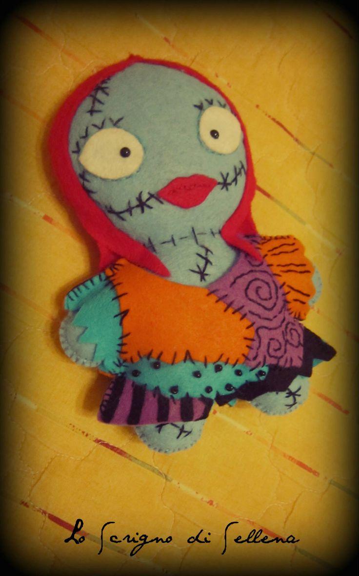 """Sally"", la bambola di pezza. Morbida, in pannolenci e cucita a mano. per info: www.facebook.com/scrignosellena #sally #sallyragdoll #rag #doll #nightmarebeforechristmas #halloween #handmade #felt"