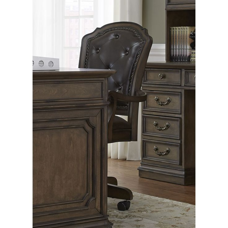 Liberty Amelia Antique Toffee Jr Executive Office Chair