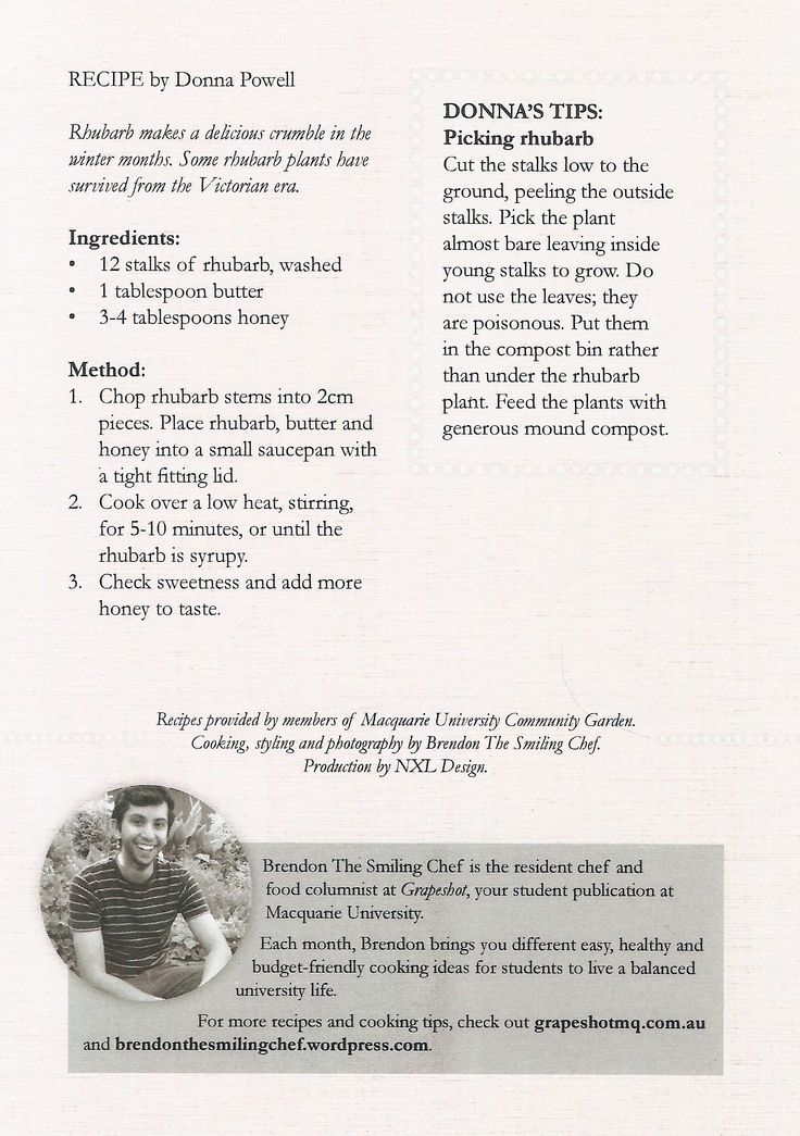 Want something sweet and sticky for breakfast. Spread this stewed rhubarb and honey onto your morning toast and enjoy! Get the free recipe card at brendonthesmilingchef.com