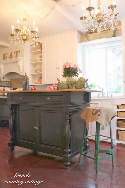 French Cottage Kitchen Inspiration -  So remember how I said that our dishwasher replacement    revealed a few issues in the kitchen?    ...