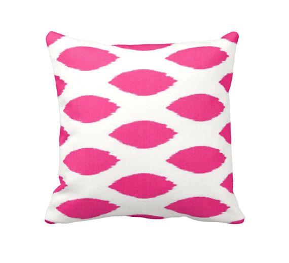 Hot Pink Pillow Covers Pink Throw Pillow Covers Bight Pink Pillows Pink  Ikat Pillows Hot Pink Decor Decorative Pillows