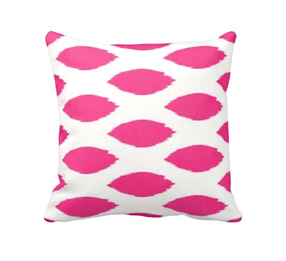 Hot Pink Pillow Covers Pink Throw Pillow by ReedFeatherStraw