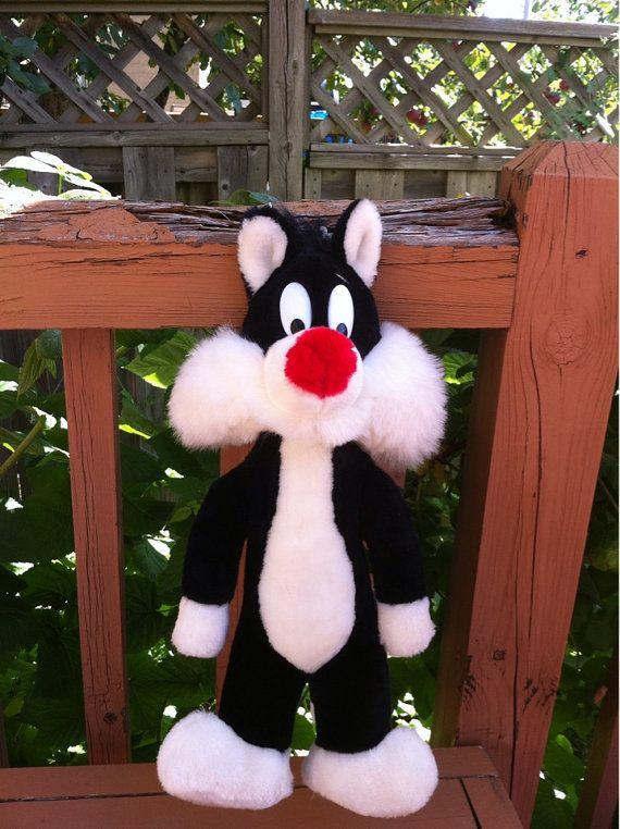 Looney Tunes personnages Sylvester le chat peluche Animal peluche jouet Warner Bros 1989 fabriqué en Corée