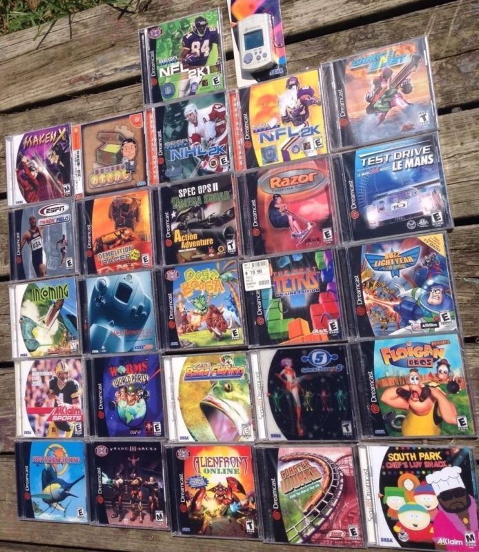 26 New Sealed Sega Dreamcast video game lot  #retrogaming #HotDC  with Maken X Worms Space Channel 5 The Next Tetris Incoming Ooga Booga AlienFront Online Coaster Works etc.