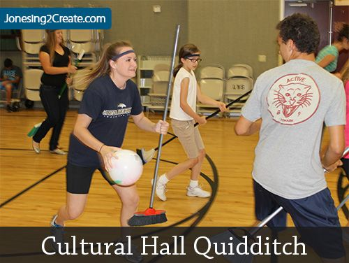 Cultural Hall Quidditch! Super easy to put together and the youth had a blast. Perfect for young women or combined mutual activities.