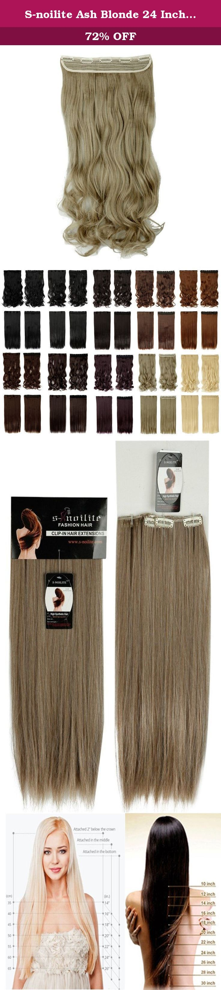 S-noilite Ash Blonde 24 Inches Curly One Piece Clip in Hair Extensions (5 Clips) Clip Ins Hairpiece for Women Lady Girl. This is a one piece clip in hair extensions made from premium synthetic fibres. There are five hair clips along the top for easy, secure and discreet attachment to your hair. You can fit them yourself in the mirror, and have them in and a new style ready to go in minutes. This item is ideal for adding a little volume or length to your current style, and one weft is…