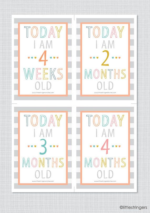 Instant Download Printable Illustrated Baby Milestone Cards, Baby's First Year, Baby Development, Baby Milestone Growing Up Cards
