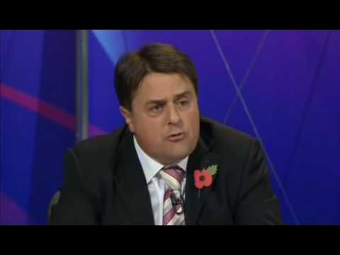 BNP Nick Griffin Humiliated on Question Time. A horrible man making horrible statements.