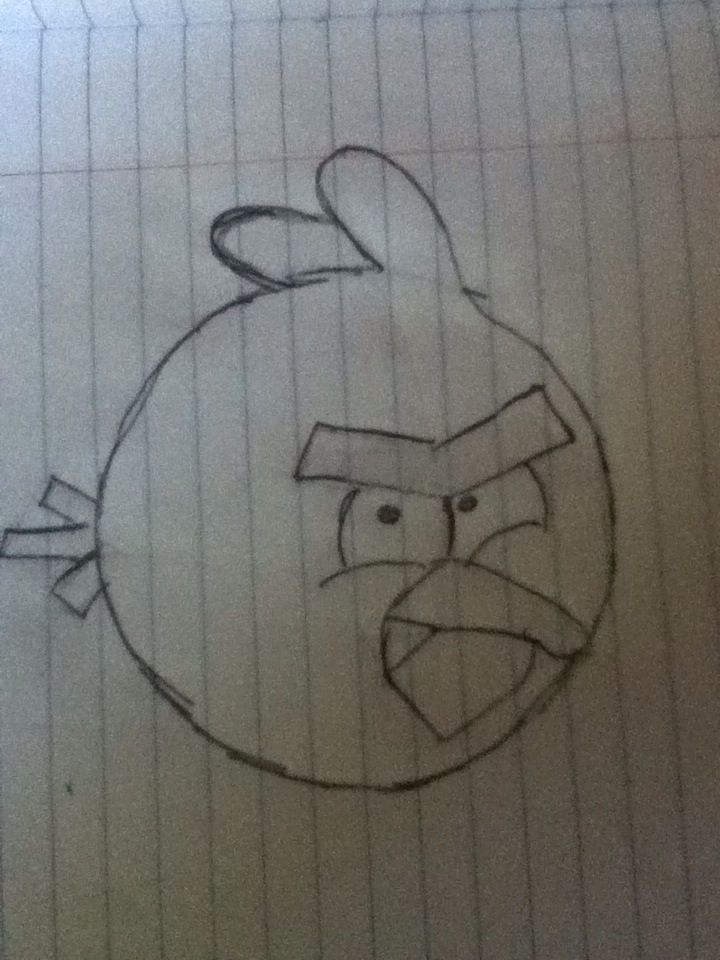 how to draw the red angry bird